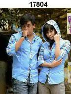 kemeja-couple-lucu-hoodie-biru