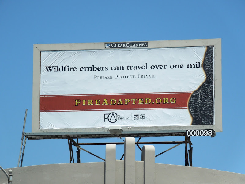 Wildfire embers billboard