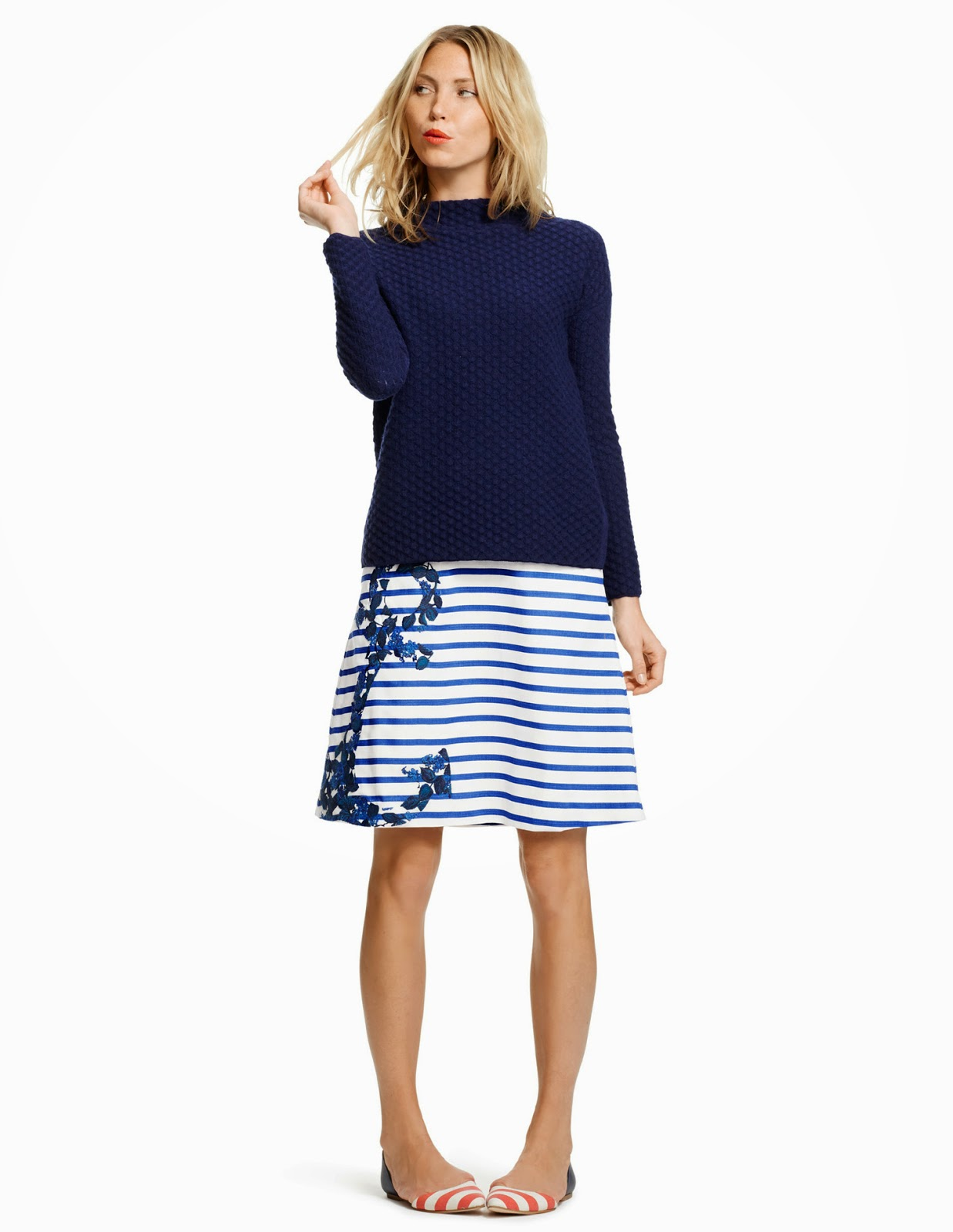boden a line fun skirt anchor nautical spring