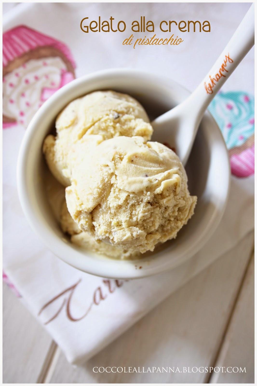 gelato alla crema di pistacchi