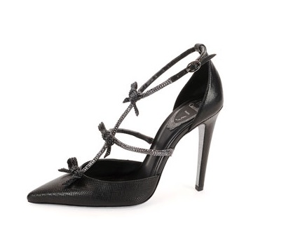 Rene Caovilla Black heels with bows