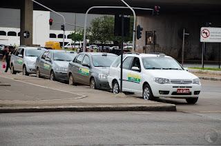 Preço da corrida de táxi em Brasília