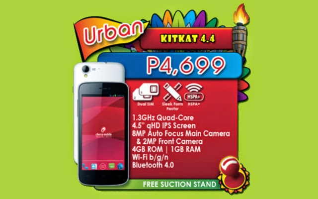 Cherry Mobile Urban with Android 4.4 Kitkat Specs, Price and Features