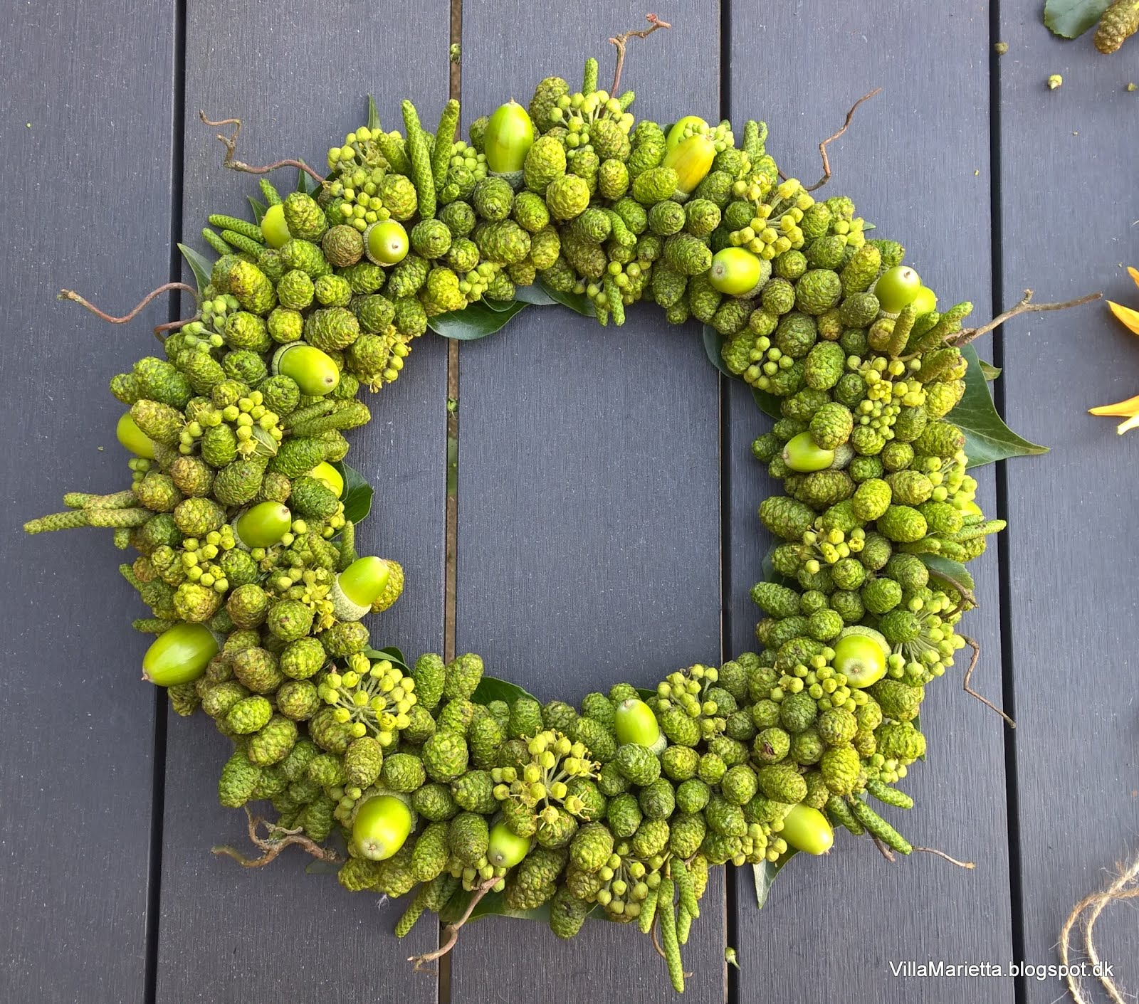 Grøn efterårskrans