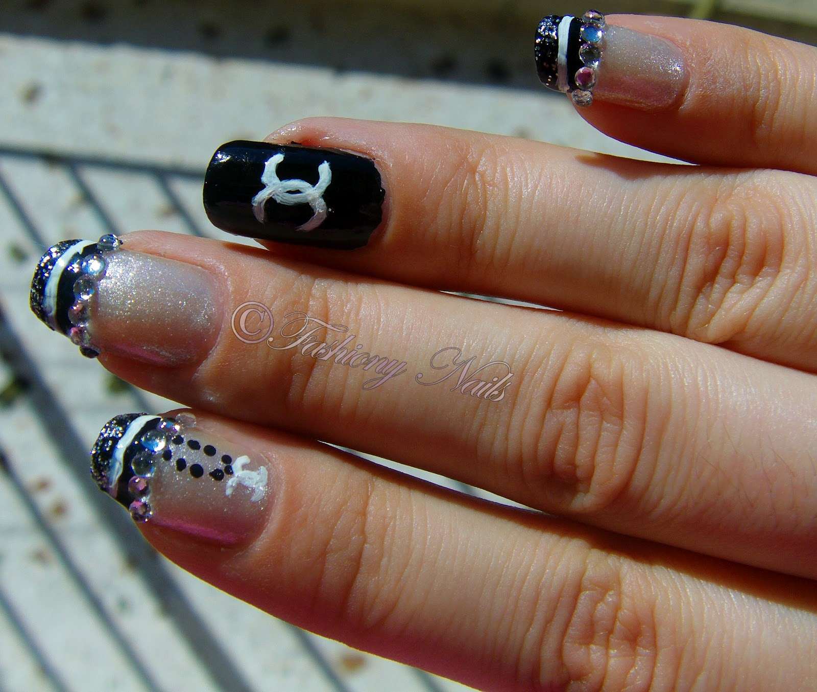 Chanel nail design fashiony nails beauty blog chanel nail design prinsesfo Image collections