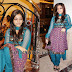 Janani Iyer in Full Sleeves Salwar Kameez