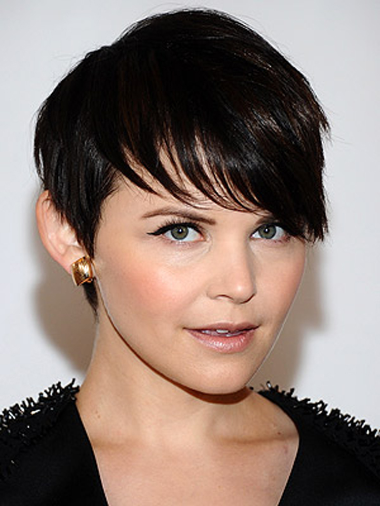 Popular Celebrity Bang Hairstyles Ginnifer Goodwin