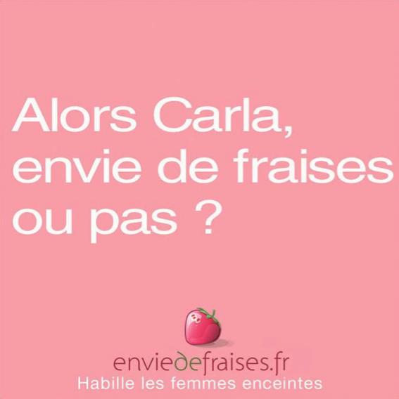 Libération Carla Bruni pub fraises