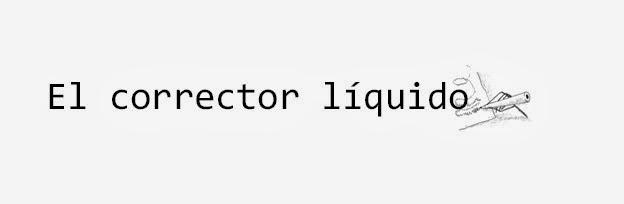 El corrector líquido