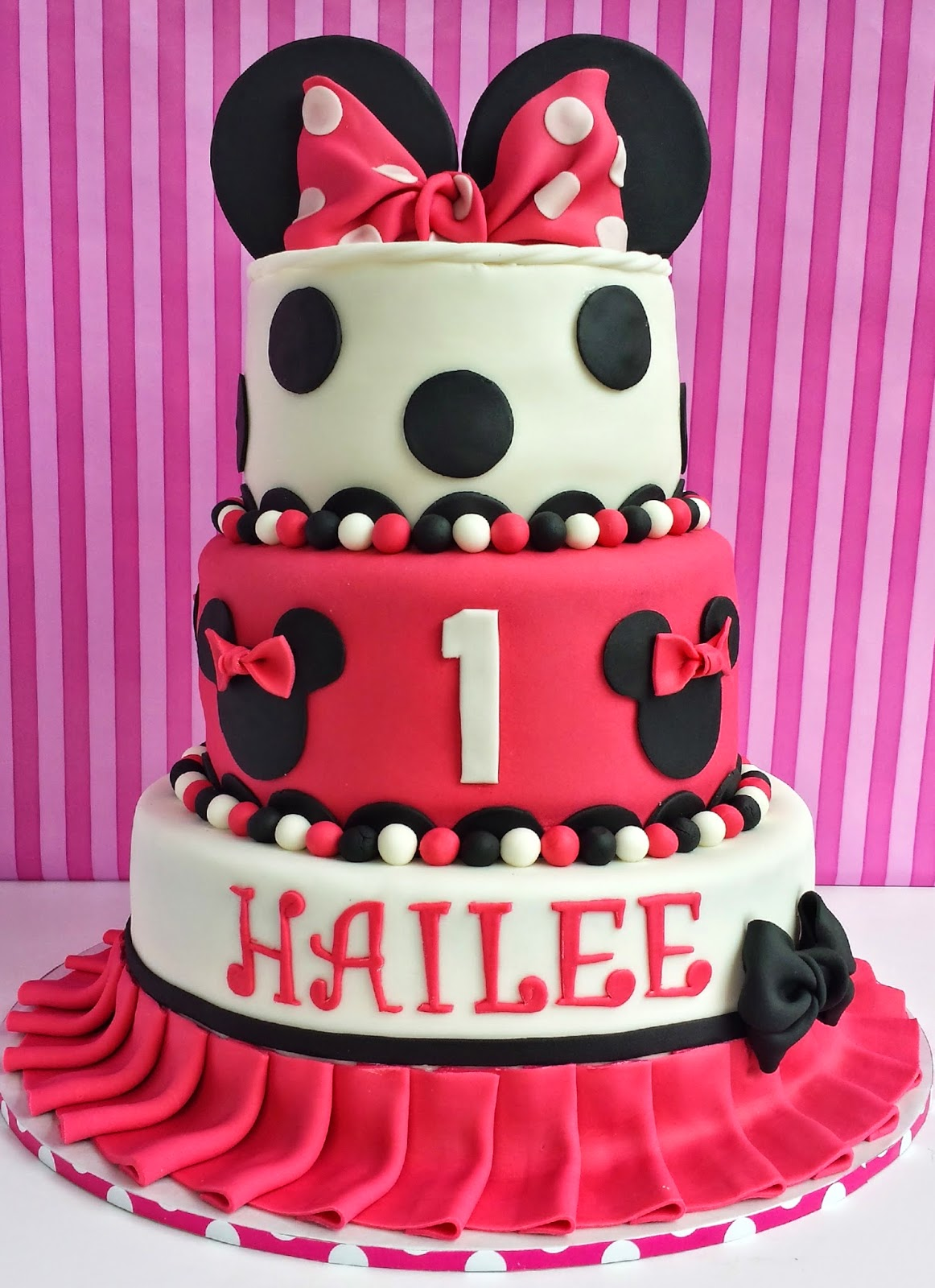 Pink Minnie Mouse Cake Stand