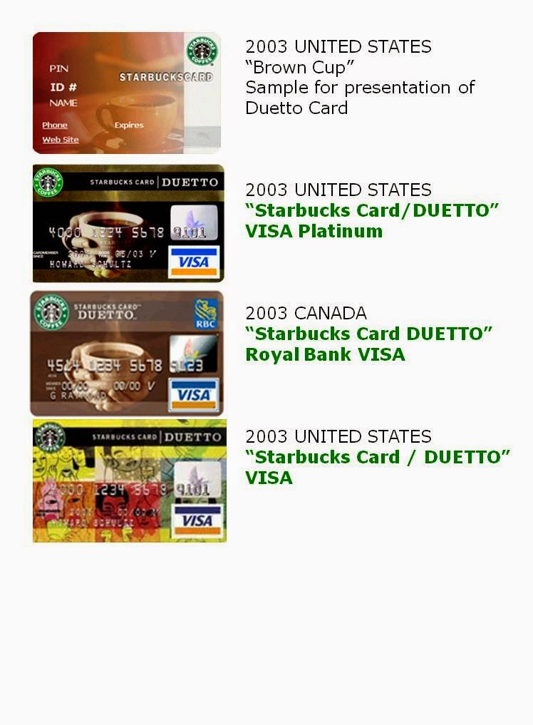 HISTORY OF THE STARBUCKS DUETTO CARD | Starbucks Gift Cards (Blog ...