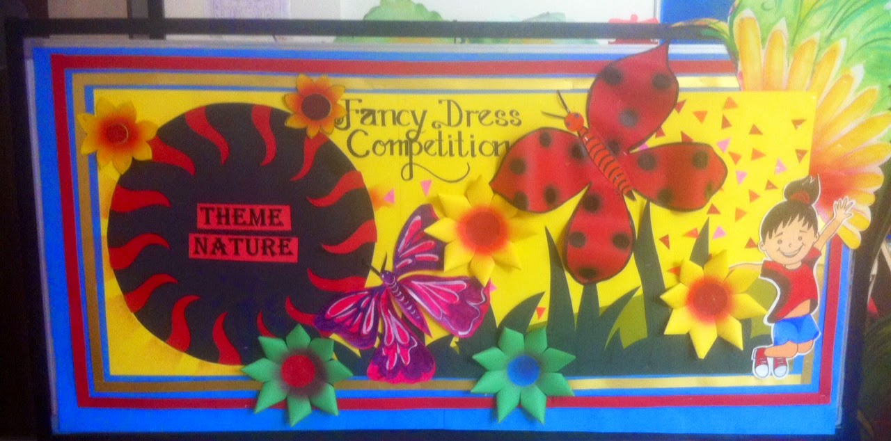 Art craft ideas and bulletin boards for elementary for Annual function decoration