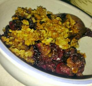 Blueberry Cherry Crisp