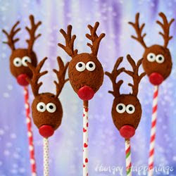 No Bake Cocoa Oatmeal Raisin Reindeer