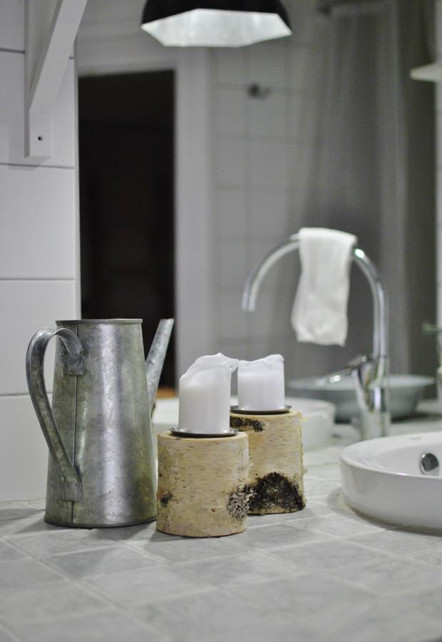 hannashantverk.blogspot.se badrum marmorbänk carraramarmor björkljusstake