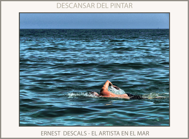 DESCANSAR-PNTAR-ERNEST DESCALS-PINTOR-ARTISTA-NATACION-EJERCICIO-PLAYA-FOTOS-MONTGAT-