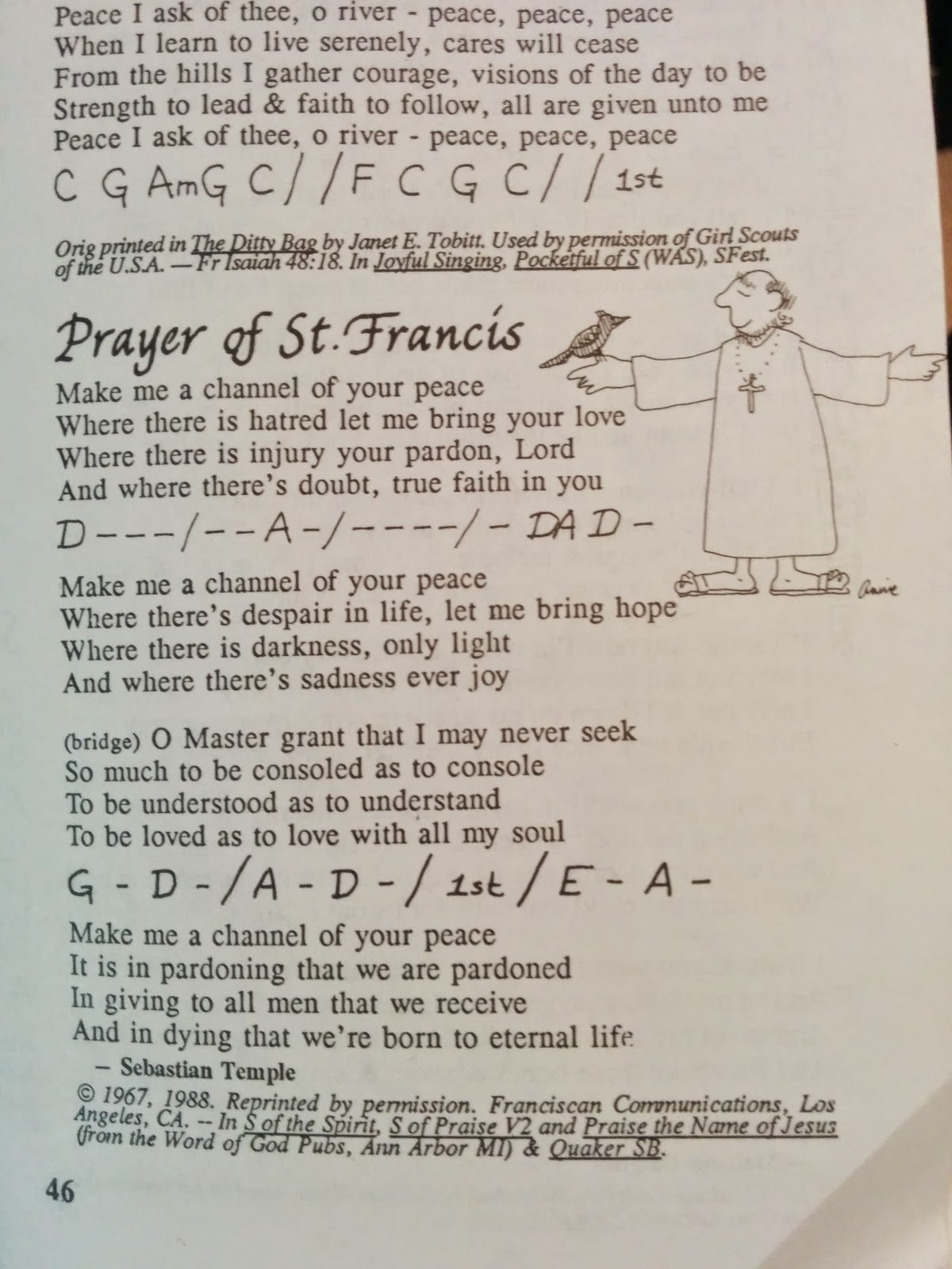 Inveterate Geek Guitar Lessons Prayer Of St Francis