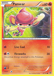 Pansear Pokemon X and Y Card