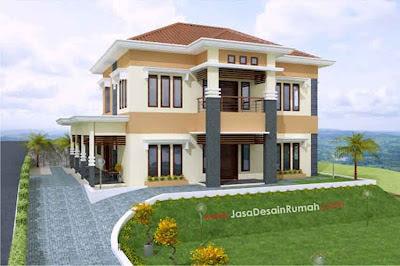 Gambar Desain Rumah Minimalis Modern Sudut-03