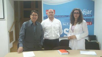 Cipriano González, Javier Garrido, Ana Muñoz de la PEña