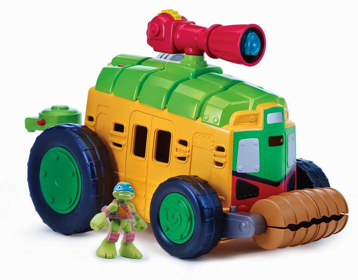 JUGUETES - LAS TORTUGAS NINJA : Half-Shell Heroes  Shellraiser | Camión + figura Leonardo  Producto Oficial | Playmates - Giochi Preziosi | A partir de 3 años