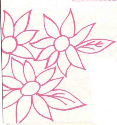 Flores para pintar en tela multy patrones car interior - Patrones para pintar en tela ...