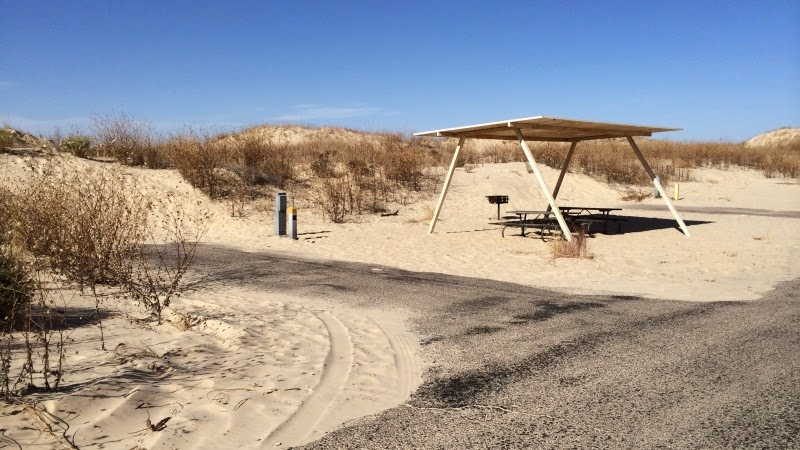 Camping i Monahans Sandhills State Park i Texas