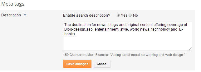 search Description for blogger.