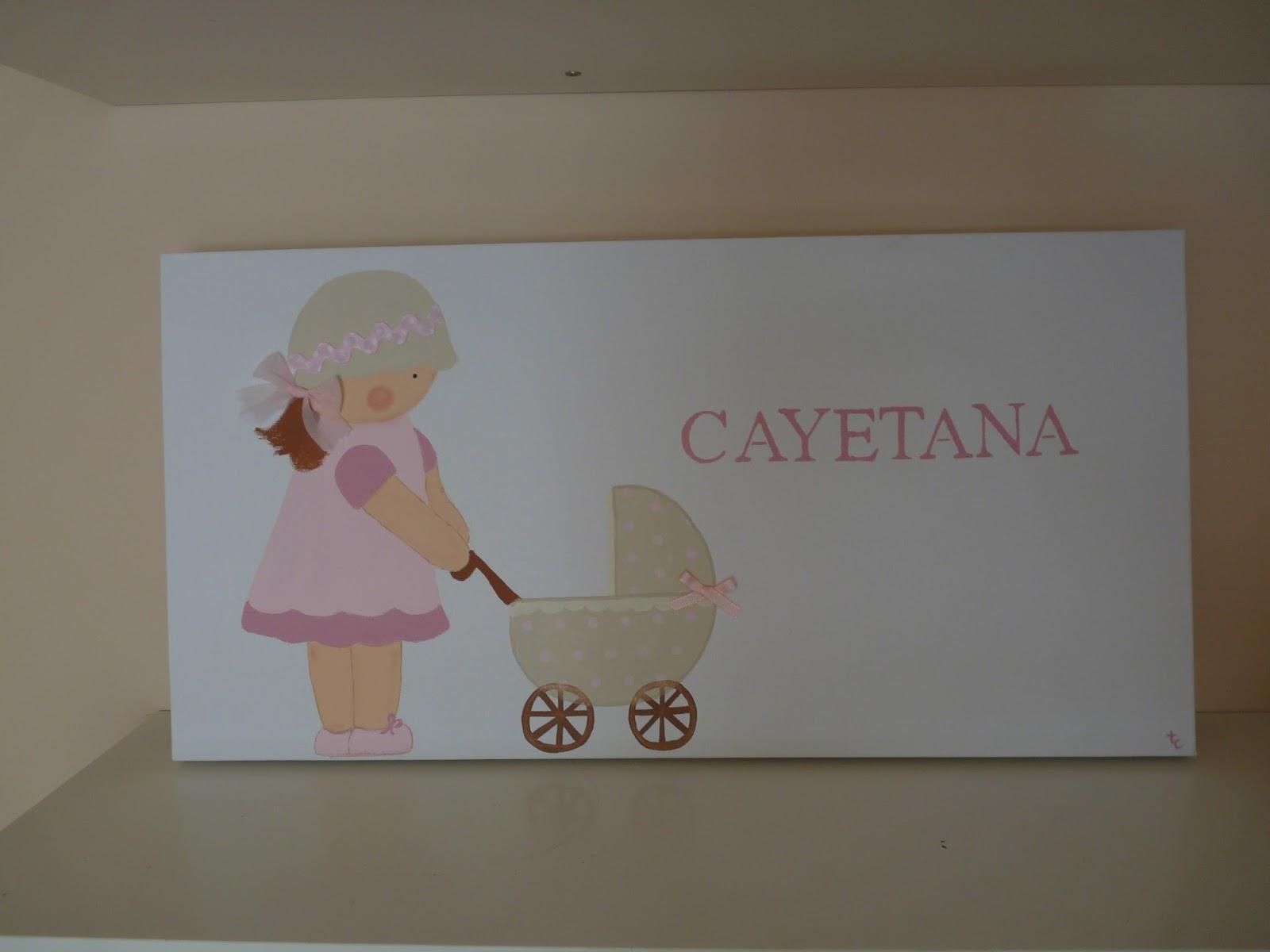 El taller de cayetana cuadros ni as con carritos - Cuadros para habitaciones de ninas ...