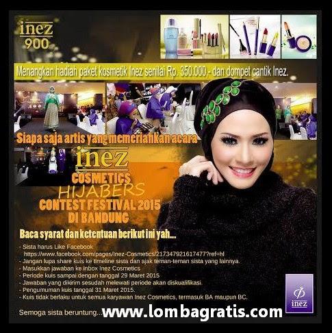 Kuis Inez Berhadiah Paket Kosmetik Senilai 350K + Dompet Cantik