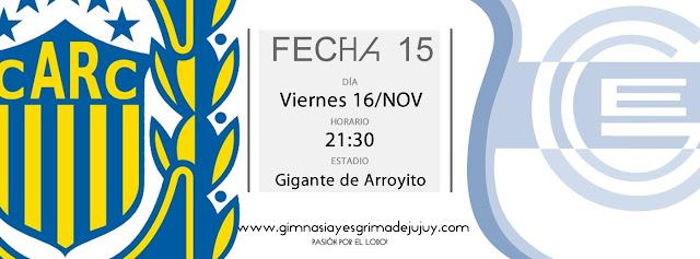 Fecha 15: Rosario Central vs. Gimnasia de Jujuy