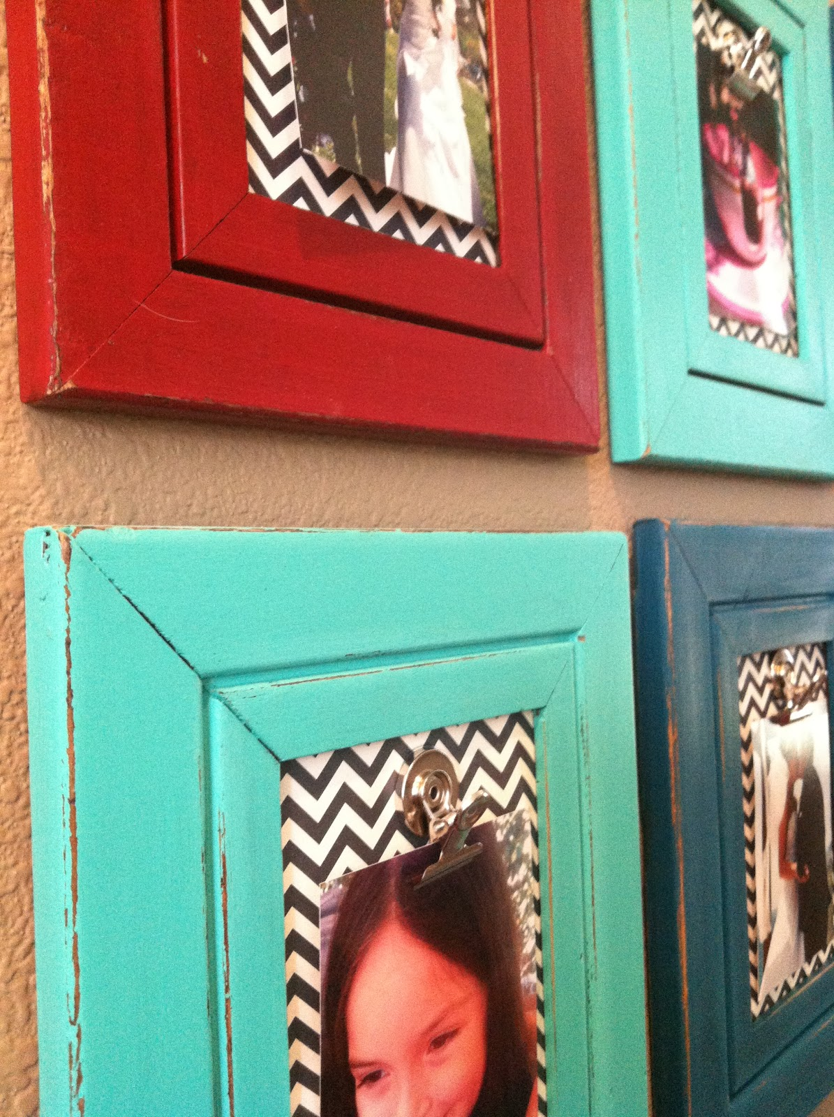 The Baeza Blog: Colorful Distressed Frames