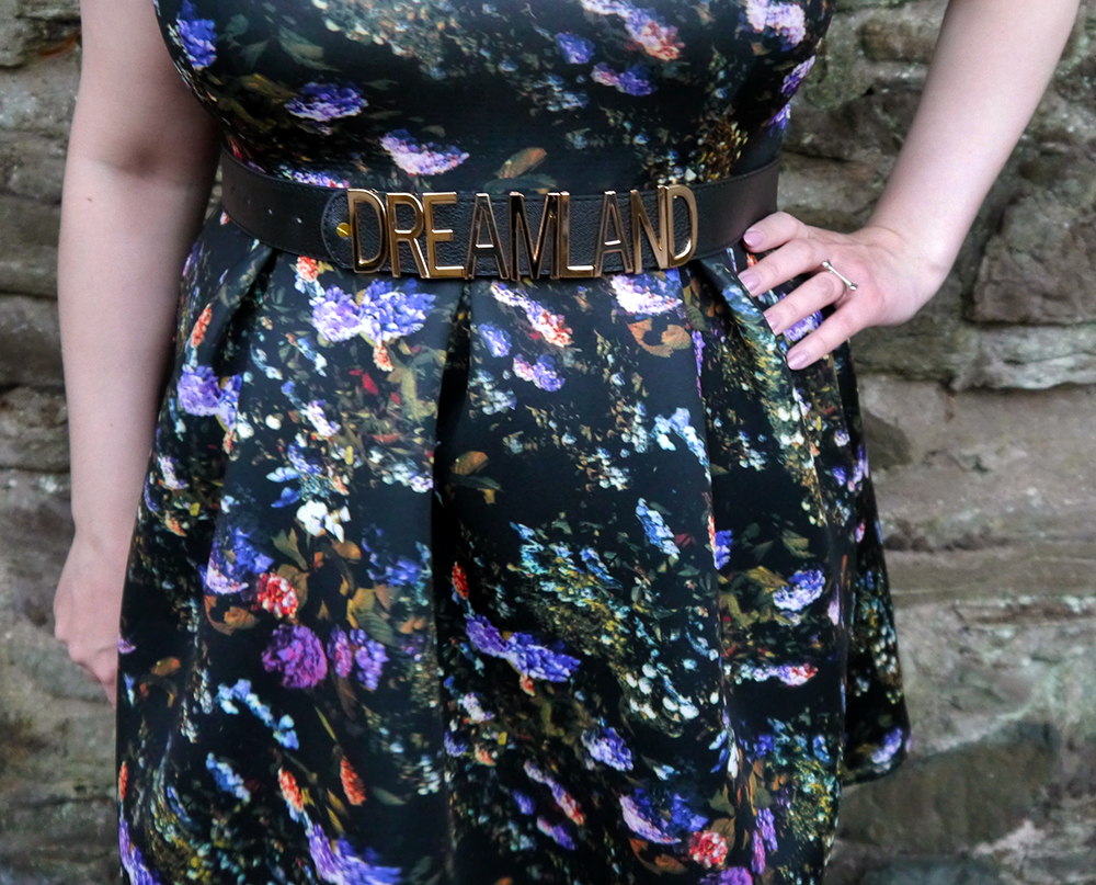 graphic print, texture, shop local, Dundee based design, Dreamland clothing ASOS, Moschino style belt