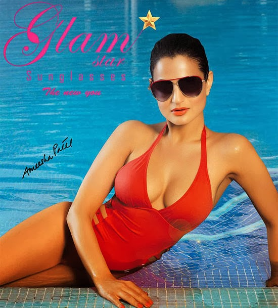 Ameesha Patel Hot Slips Into a Red