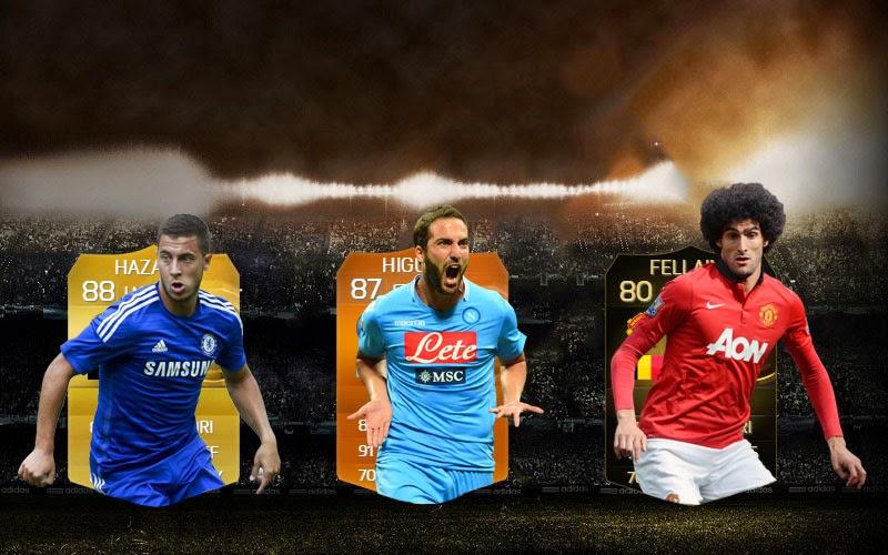 Beautiful team híbrido Higuaín MOTM - Hazard - Fellaini IF FIFA 15 Ultimate Team