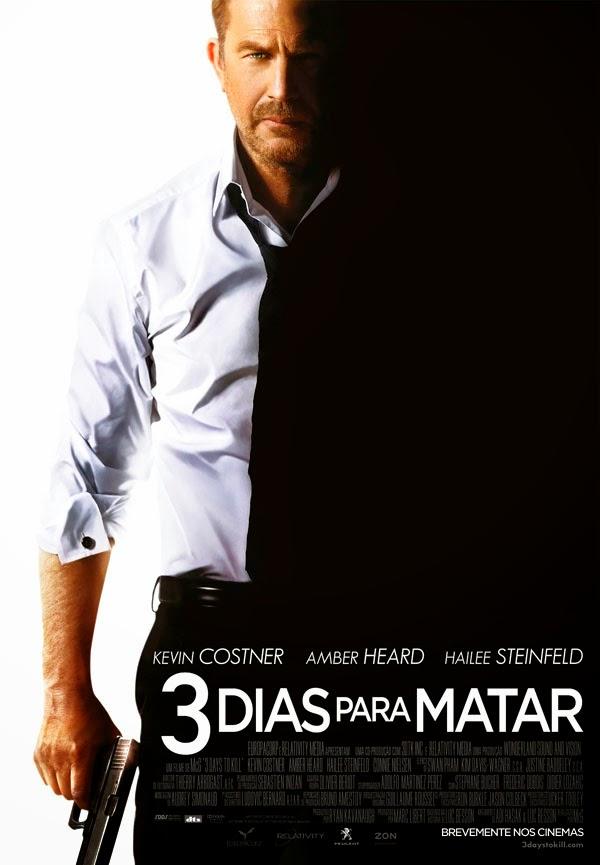 """Poster do filme """"3 Dias Para Matar"""""""