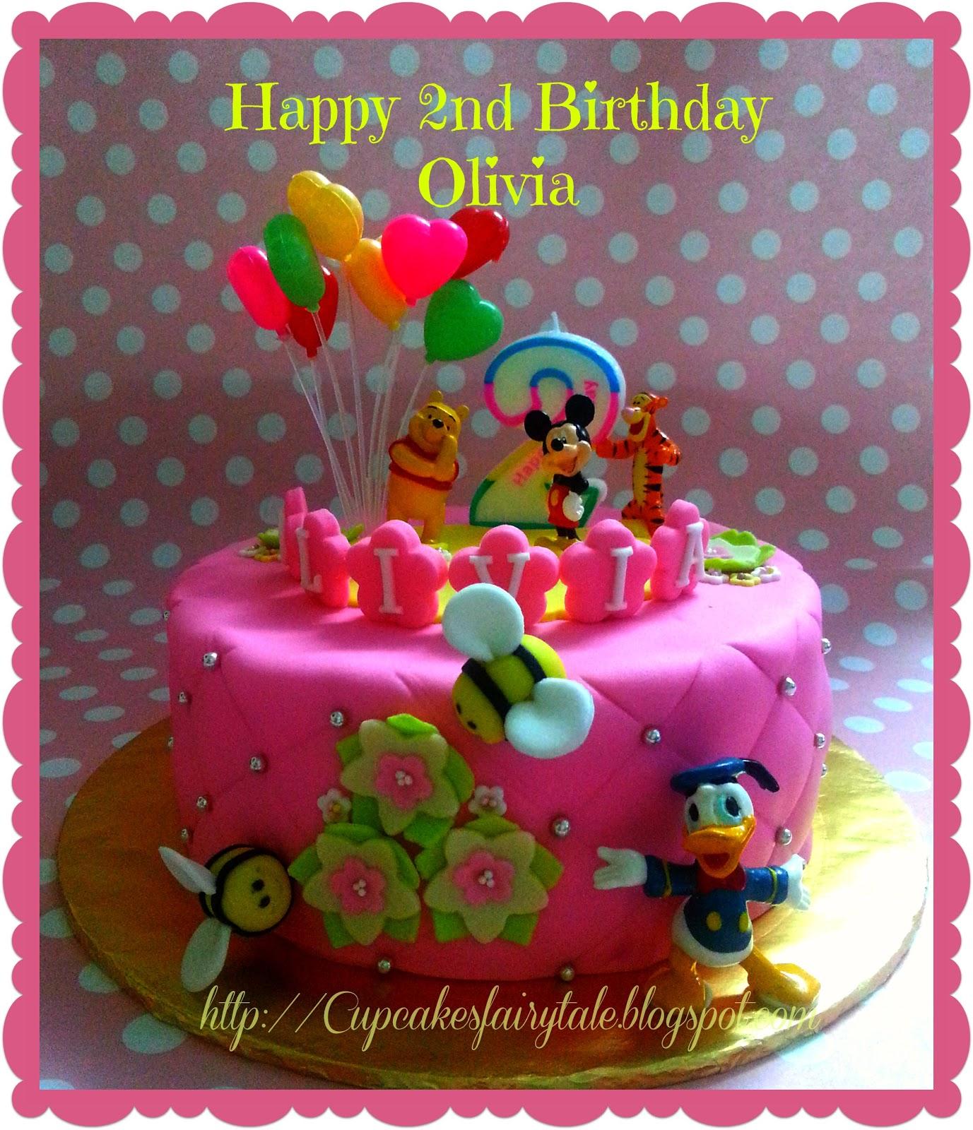 Cupcakes Fairytale Olivia S Mickey Pooh Birthday Cake