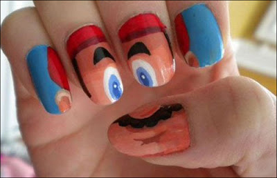 Funny Mario Nails