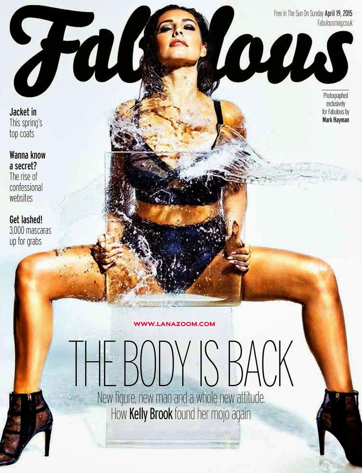 صور كيلي بروك في مجلة Fabulous - أبريل 2015