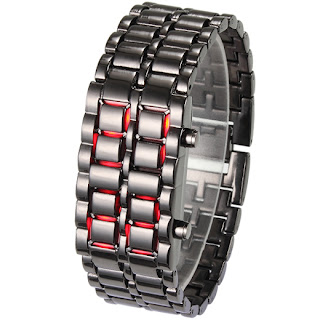Red LED Plastic Lava Sports Unisex Fashion Date Wrist Watch 8 Colors