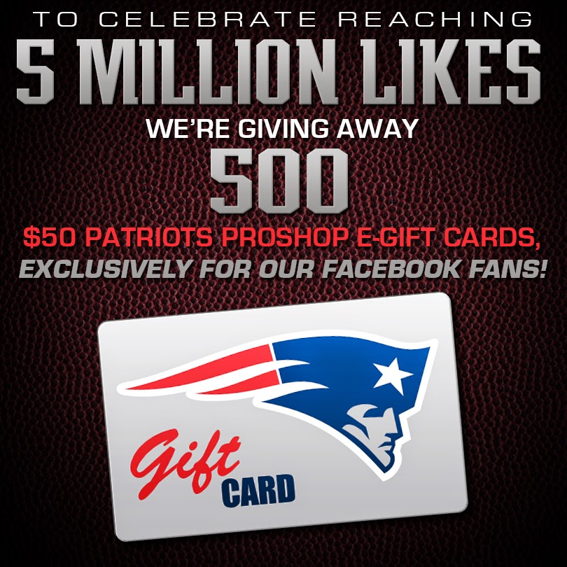 Celebrate Patriots Reaching 5 Million Likes