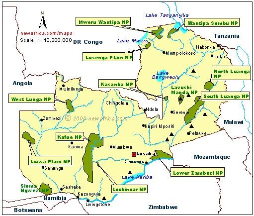 Zambia, Geographical Maps of Zambia - Global Encyclopedia™