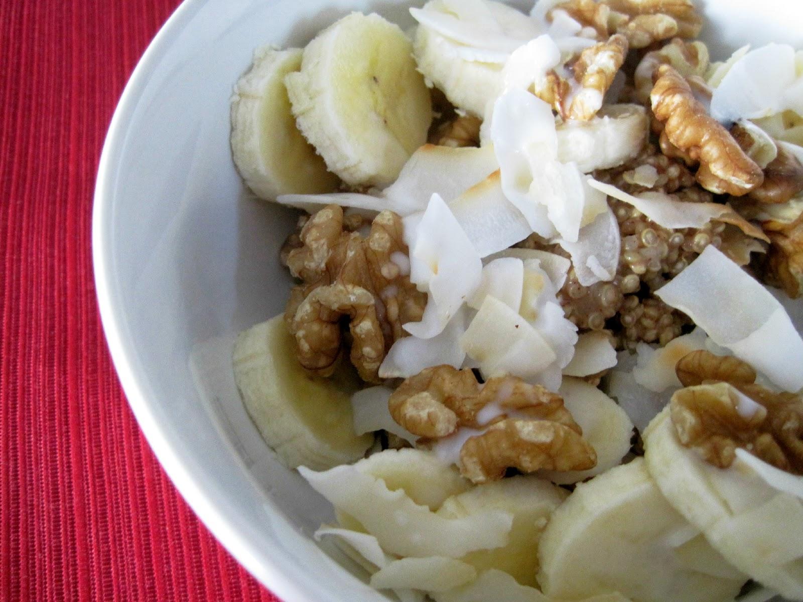 Coconut Breakfast Quinoa | Skinny Muffin