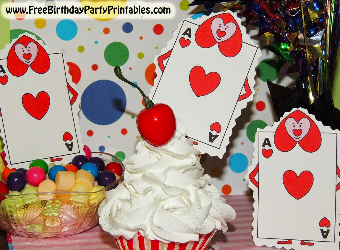 Alice In Wonderland Birthday Party Printables