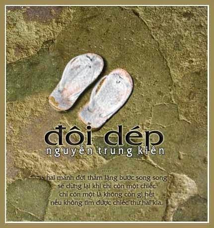 Đôi dép, Bài thơ đôi dép [gốc] và về ĐÔI TẤT [chế]