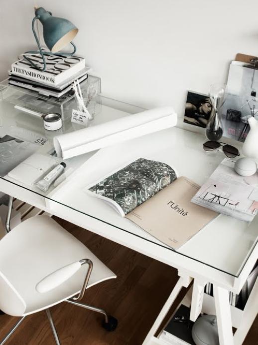 black vs white desk inspiration the brunette shake