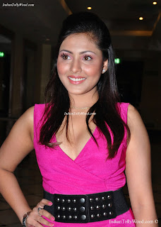 Madhu Shalini Hot In Pink Dress at Hyderabad Sunrisers Launch Party.