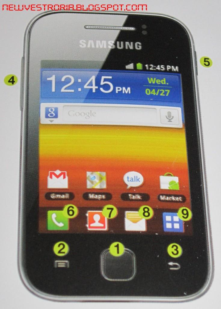 ... Menggunakan Samsung Galaxy Young (Android V. 2.3 a.k.a Gingerbread