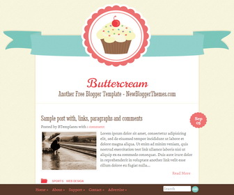 buttercream,blogger template,new blogger templates,blogspot template