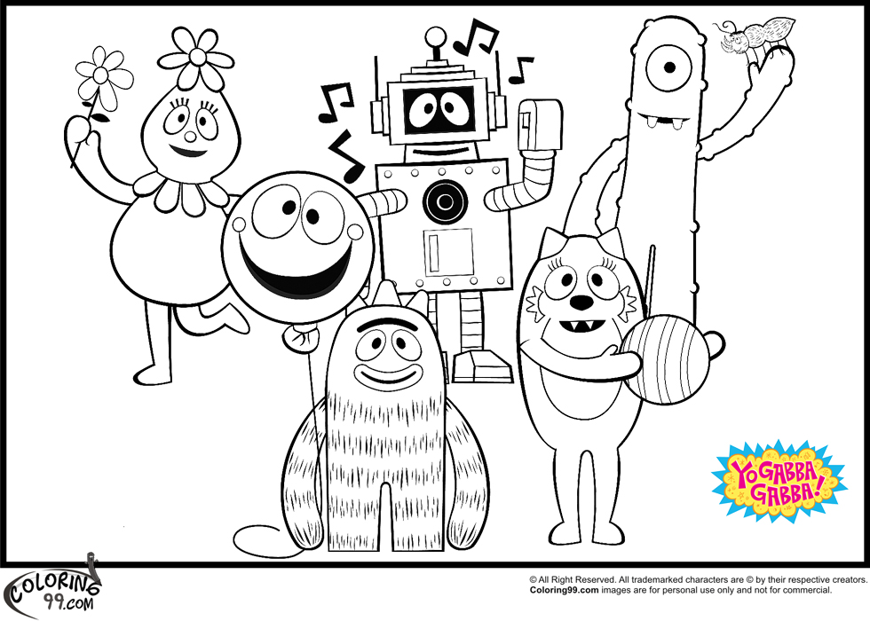 yo gabba gabba coloring pages 1